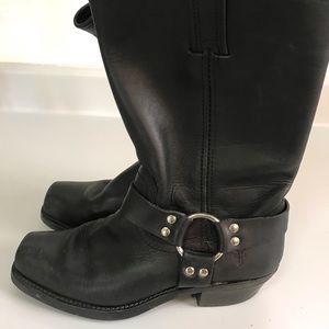 Frye Harness Black Moto Boots Original Like New
